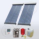 Set panouri solare cu 10 tuburi vidate, Pachet cu panou solar cu tuburi vidate, Panouri cu tuburi vidate pentru apa calda SIU 2x10