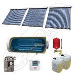 Panou solar ieftin cu tuburi vidate si boiler cu o serpentina, Panouri solare cu boiler monovalent de 500 litri, Colectoare solare pentru apa calda