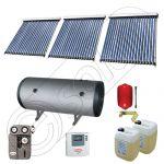 Panouri solare ieftine cu boiler bivalent de 500 litri, Pachet cu panou solar cu tuburi vidate, Instalatii solare pentru apa calda Solariss Iunona