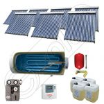 Set Solariss Iunona panouri solare cu boiler, Pachete colectoare solare cu tuburi vidate si boiler, Instalatii solare fabricate in China SIU 7x20-1500.1BMH