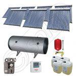 Set Solariss Iunona panouri solare cu boiler, Pachete colectoare solare cu tuburi vidate si boiler, Instalatii solare fabricate in China SIU 7x20-2000.2BMH