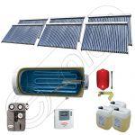 Colectoare solare pentru apa calda si aport la incalzire, Instalatie solara cu tuburi vidate si boiler SIU 6x30-1500.1BMH, Panouri solare cu tuburi vidate si boiler la pret de importator