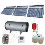Colectoare solare pentru apa calda si aport la incalzire, Instalatie solara cu tuburi vidate si boiler SIU 6x30-1500.2BMH, Panouri solare cu tuburi vidate si boiler la pret de importator