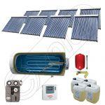 Set panouri solare ieftine cu boiler fabricate in China, Colectoare solare China Solariss Iunona, Instalatie cu panouri solare China cu tuburi vidate SIU 8x20-1500.1BMH