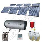 Set panouri solare ieftine cu boiler fabricate in China, Colectoare solare China Solariss Iunona, Instalatie cu panouri solare China cu tuburi vidate SIU 8x20-1500.2BMH