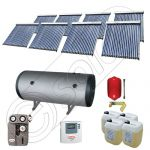 Set panouri solare ieftine cu boiler fabricate in China, Colectoare solare China Solariss Iunona, Instalatie cu panouri solare China cu tuburi vidate SIU 8x20-2000.2BMH