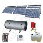 Set panouri solare ieftine cu boiler fabricate in China, Colectoare solare China Solariss Iunona, Instalatie cu panouri solare China cu tuburi vidate SIU 7x30-2000.2BMH