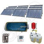 Set panouri solare ieftine cu boiler fabricate in China, Colectoare solare China Solariss Iunona, Instalatie cu panouri solare China cu tuburi vidate SIU 9x30-2000.1BMH