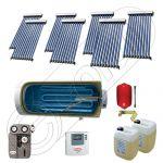 Panouri solare cu tuburi vidate si boiler la pret de importator, Colectoare solare pentru apa calda si aport la incalzire, Instalatie solara cu tuburi vidate si boiler SIU 7x10-800.1BMH