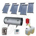 Panouri solare cu tuburi vidate si boiler la pret de importator, Colectoare solare pentru apa calda si aport la incalzire, Instalatie solara cu tuburi vidate si boiler SIU 7x10-800.2BMH