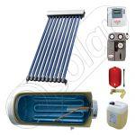 Instalatii solare cu tuburi vidate si boiler SIU 1x10-100.1TEH, Pachet cu panou solar cu tuburi vidate, Instalatie solara cu tuburi vidate cu boiler termoelectric orizontal