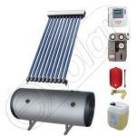 Instalatii solare cu tuburi vidate si boiler SIU 1x10-100.2TEH, Pachet cu panou solar cu tuburi vidate, Instalatie solara cu tuburi vidate cu boiler termoelectric orizontal