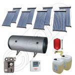 Instalatii solare presurizate pentru apa calda si caldura, Instalatie solara vidata cu boiler orizontal SIU 8x10-1000.2BMH, instalatie cu panouri solare vidate la pret rezonabil