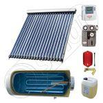 Pachete colectoare solare pentru apa menajera, Instalatii solare cu tuburi vidate si boiler termoelectric SIU 1x20-150.1TEH, Instalatie solara cu tuburi vidate cu boiler termoelectric orizontal