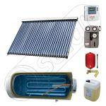 Instalatie solara cu tuburi vidate cu boiler termoelectric orizontal, Pachete colectoare solare pentru apa menajera, Instalatii solare cu tuburi vidate si boiler termoelectric SIU 1x30-150.1TEH