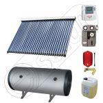 Instalatie solara cu tuburi vidate cu boiler termoelectric orizontal, Pachete colectoare solare pentru apa menajera, Instalatii solare cu tuburi vidate si boiler termoelectric SIU 1x30-150.2TEH