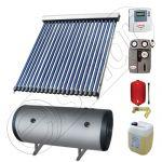 Pachete colectoare solare pentru apa menajera, Instalatii solare cu tuburi vidate si boiler termoelectric SIU 1x20-120.2TEH, Instalatie solara cu tuburi vidate cu boiler termoelectric orizontal
