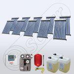 Set panouri solare cu 10 tuburi vidate, Pachet cu panou solar cu tuburi vidate, Panouri cu tuburi vidate pentru apa calda SIU 10x10