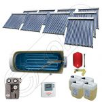 Panouri cu tuburi vidate si boiler Solariss Iunona, Pachet colectoare solare ieftine cu tuburi vidate, Instalatie solara presurizata cu boiler SIU 9x20-1500.1BMH