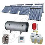 Panouri cu tuburi vidate si boiler Solariss Iunona, Pachet colectoare solare ieftine cu tuburi vidate, Instalatie solara presurizata cu boiler SIU 9x20-1500.2BMH