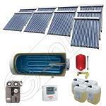 Panouri cu tuburi vidate si boiler Solariss Iunona, Pachet colectoare solare ieftine cu tuburi vidate, Instalatie solara presurizata cu boiler SIU 9x18-1500.1BMH