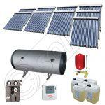 Panouri cu tuburi vidate si boiler Solariss Iunona, Pachet colectoare solare ieftine cu tuburi vidate, Instalatie solara presurizata cu boiler SIU 9x18-1500.2BMH