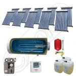 Solariss Iunona colectoare solare cu tuburi vidate, Set panouri solare pentru apa calda si caldura, Pachet panouri solare import China cu tuburi vidate si boiler SIU 10x10-1000.1BMH