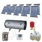 Solariss Iunona colectoare solare cu tuburi vidate, Set panouri solare pentru apa calda si caldura, Pachet panouri solare import China cu tuburi vidate si boiler SIU 10x10-1000.2BMH