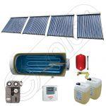 Colectoare solare cu tuburi vidate import China, Seturi colectoare solare si boiler SIU 4x22-750.1BMH, Instalatii vidate presurizate cu boiler solar