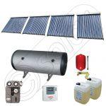 Colectoare solare cu tuburi vidate import China, Seturi colectoare solare si boiler SIU 4x22-800.2BMH, Instalatii vidate presurizate cu boiler solar