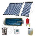 Boiler cu o serpentina si panou solar ieftin cu tuburi vidate, Panouri solare cu boiler monovalent de 300 litri, Colectoare solare pentru apa calda