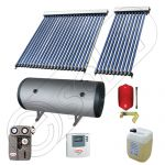 Boiler bivalent de 300 litri si panouri solare ieftine, Pachet cu panou solar cu tuburi vidate, Instalatii solare pentru apa calda Solariss Iunona