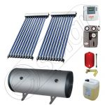Instalatie solara cu tuburi vidate import China SIU 2x10-120.2TEH, Set colectoare solare pentru apa calda cu boiler orizontal, Instalatii solare cu tuburi vidate cu boiler termoelectric