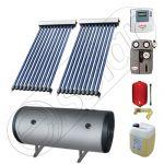 Instalatie solara cu tuburi vidate import China SIU 2x10-100.2TEH, Set colectoare solare pentru apa calda cu boiler orizontal, Instalatii solare cu tuburi vidate cu boiler termoelectric