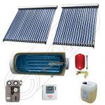 Panouri solare China Solariss Iunona, Colectoare solare cu boiler pentru apa calda tot anul, Boiler cu o serpentina si panou solar cu tuburi vidate