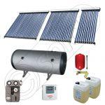 Panouri cu tuburi vidate Solariss Iunona si boiler, Instalatie presurizata solara pentru apa calda, Boiler cu 2 serpentine si panou solar