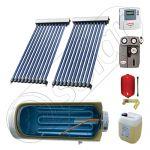 Boiler cu o serpentina si panou solar ieftin cu tuburi vidate, Panouri solare cu boiler monovalent de 200 litri, Colectoare solare pentru apa calda