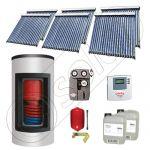 Panou solar ieftin cu tuburi vidate si boiler Kombi cu o serpentina, Panouri solare cu boiler monovalent de 1000/200 litri, Panouri solare China Solariss Iunona