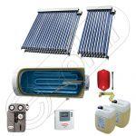Colectoare solare China cu boiler si un schimbator de caldura, Pachet cu panouri solare apa calda tot anul, Boiler si panouri solare Solariss Iunona