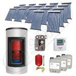 Panouri solare Solariss Iunona, Panou solar cu tuburi vidate si boiler Kombi cu o serpentina, Panouri solare ieftine pentru apa calda cu boiler