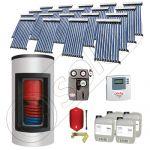 Panouri solare China Solariss Iunona, Panouri solare cu boiler Kombi pentru apa calda tot anul, Panou solar cu tuburi vidate si boiler cu o serpentina