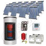 Set panouri solare ieftine cu boiler Kombi de 1500/300 litri si doua serpentine, Seturi panouri solare Solariss Iunona, Pachet cu panou solar apa calda tot anul