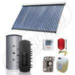 Panouri solare cu puffer de 300 litri monovalent SIU 1x30-300.1PF, Set colectoare solare cu Puffer monovalent, Colectoare solare cu tuburi vidate si Puffer de 300 litri
