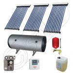 Set panou solar apa calda cu tuburi vidate si boiler, Pachet cu panou solar cu tuburi vidate, Boiler orizontal si colectoare solare cu tuburi vidate