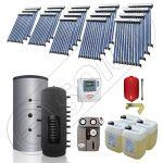 Puffer cu o serpentina si panou solar ieftin cu tuburi vidate, Panouri solare cu puffer monovalent de 2000 litri, Colectoare solare pentru incalzire