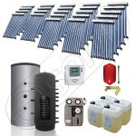 Puffer cu o serpentina si panou solar ieftin pentru incalzire, Panou solar china Solariss Iunona, Colectoare solare cu puffer monovalent de 2500 litri