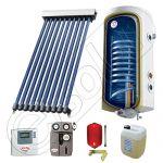 Boiler cu 1 serpentina si panou solar cu tuburi vodate, boiler solar cu o serpentina cu panou solar tuburi vidate