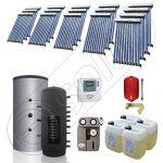 Puffer cu o serpentina si panou solar ieftin pentru incalzire, Panou solar china Solariss Iunona, Colectoare solare cu puffer monovalent de 2000 litri