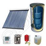 Panou solar ieftine cu boiler bivalent de 150 litri, Pachet cu panou solar cu tuburi vidate, Set panouri solare import China Solariss Iunona