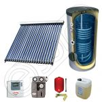 Pachet cu panou solar cu tuburi vidate, Panouri solare cu tuburi vidate cu boiler cu 2 serpentine, Panouri cu tuburi vidate si boiler Solariss Iunona